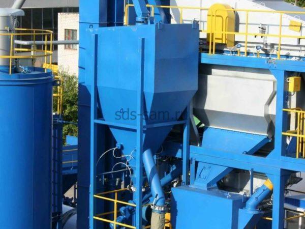 установка улавливания пыли для бетонного завода