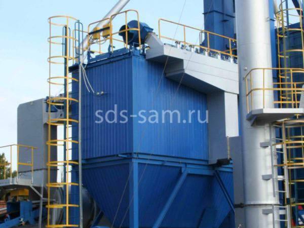установка рукавного фильтра для бетонного завода